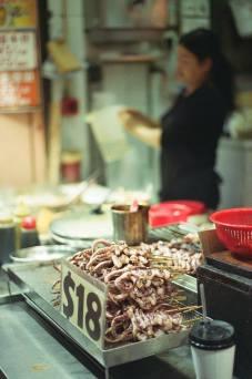 seafood on sticks