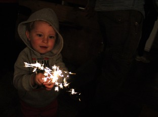 sparklers and the smiles they bring